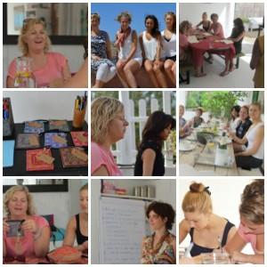 Ibiza retreat collage